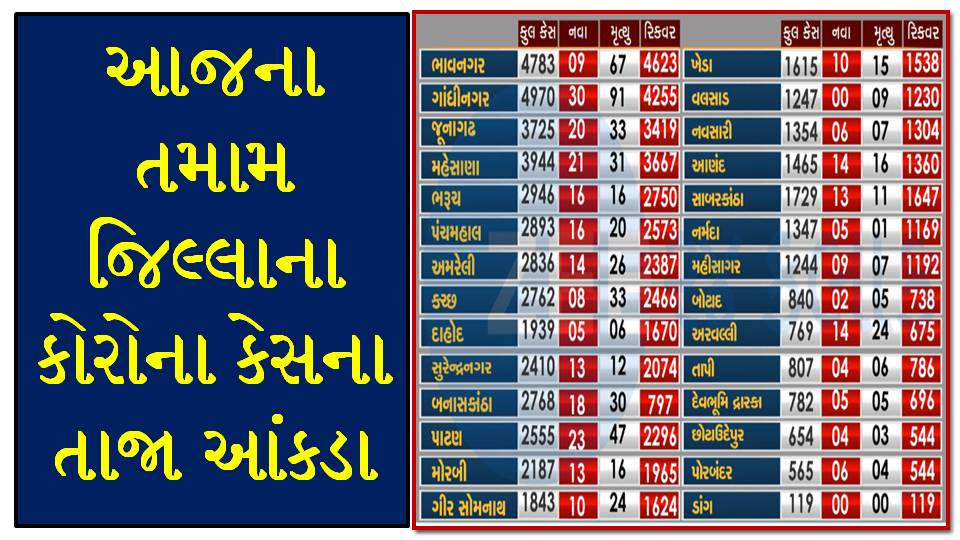 Gujarat Corona Cases Today [02/11/2020] District Wise Updates - Official Press Note PDF