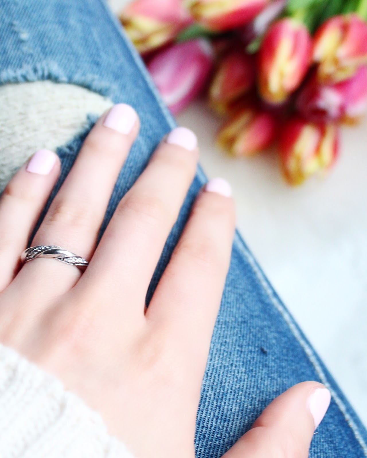 e7d53f708 Valentine's Day with Pandora - Ribbon of Love ring | chrissabella