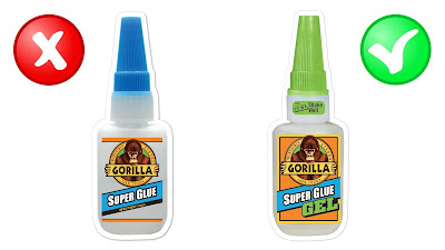 Liquid super glue versus super glue gel