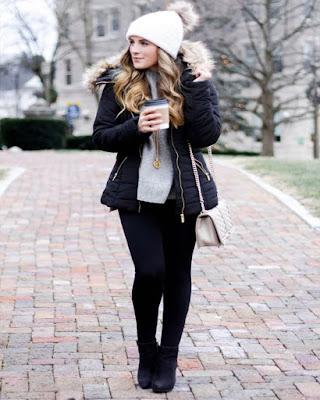 Outfit de invierno casual femenino