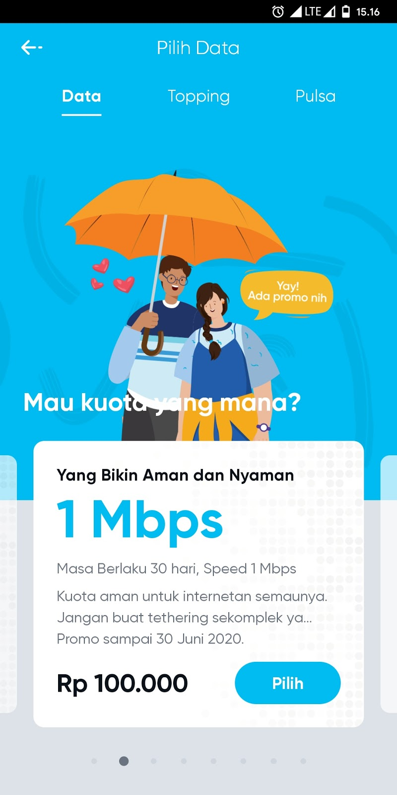 Promo Paket By.U Unlimited Full 30 Day