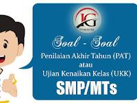 Soal dan Kunci Jawaban PAT/UKK Mapel SBK SMP/MTs Kelas 7 Semester 2
