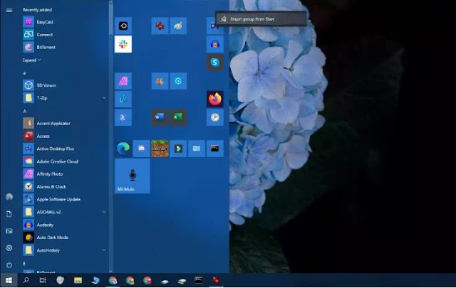 Cara Mengubah Tampilan Start Menu Windows 10-5