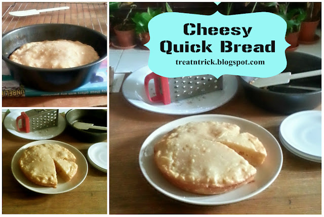 Cheesy Quick Bread Recipe @ treatntrick.blogspot.com