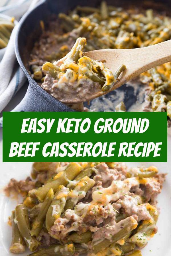 This Keto Ground Beef Casserole is the perfect comfort dish. Easy to make and hearty, you'll love every single bite of this easy keto recipe. #keto #lowcarb #groundbeef #casserole #dinner
