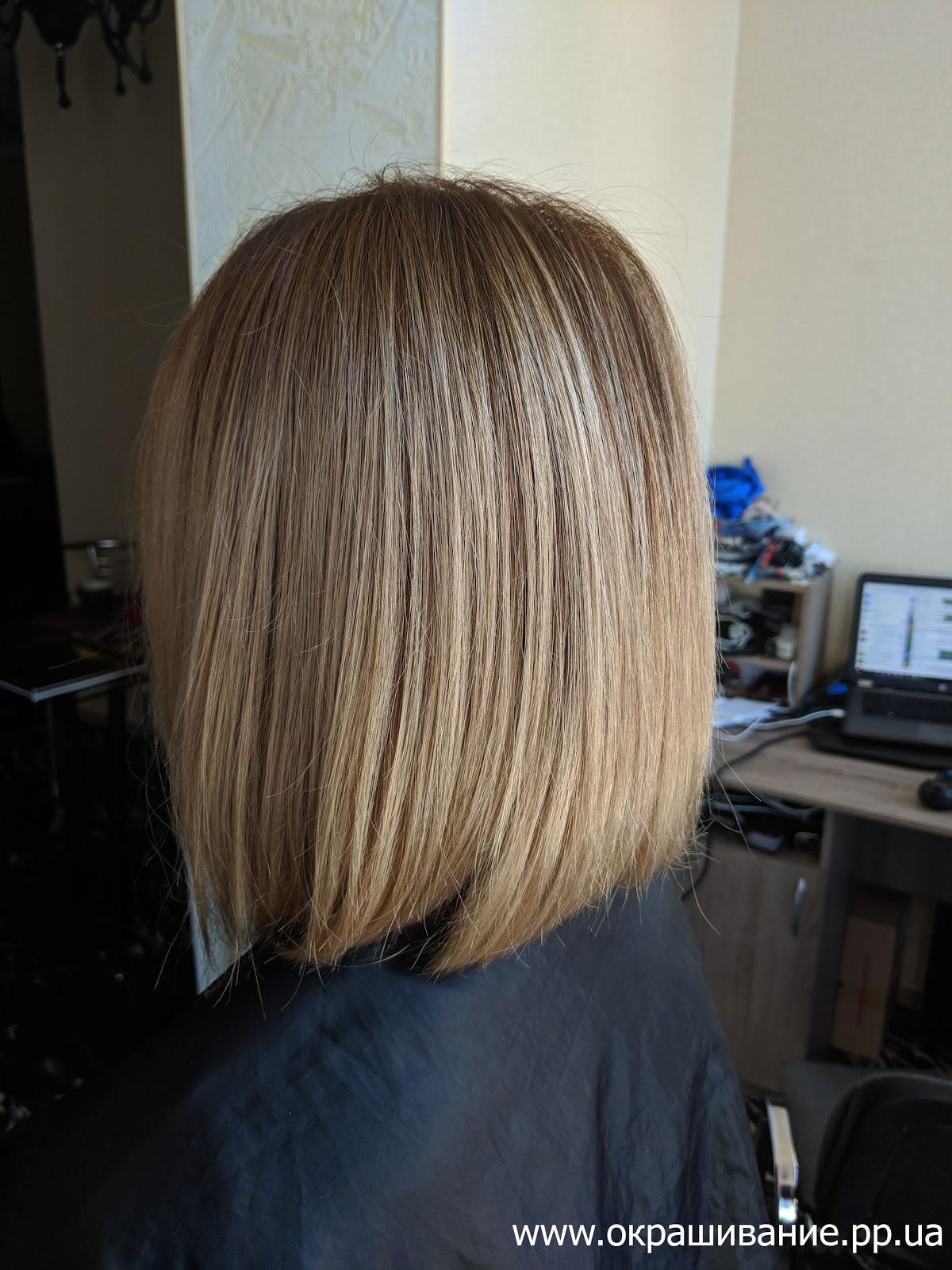 Блонд с затемнением корня