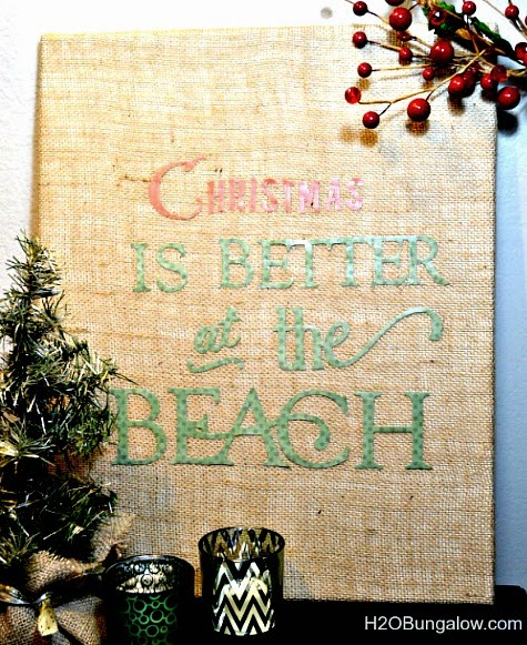 Christmas burlap sign