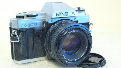 Minolta X-370 (Chrome) Body #782, Minolta MD 50mm F1.7 #686