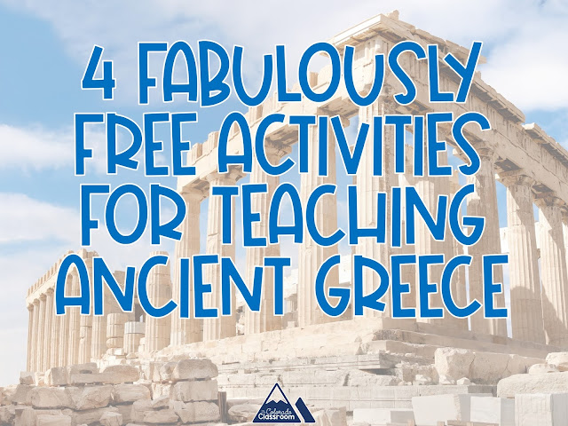 Four Fabulously Free Activities For Teaching Ancient Greece