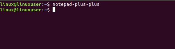 membuka notepad++ melalui terminal ubuntu