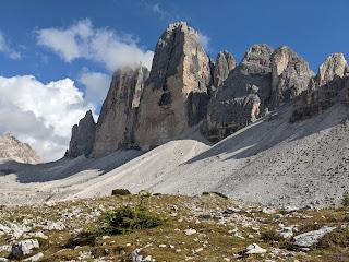 Tre Cime di Lavaredo from the north side.