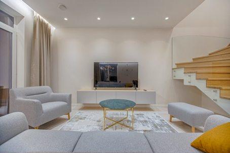 A minimalist living room.