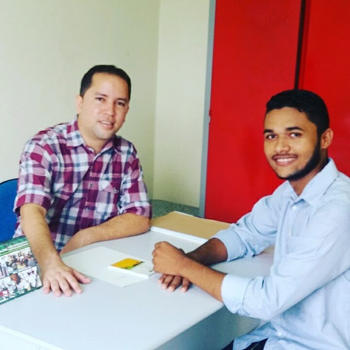 Análio Júnior(PRB) recebe na Coordenação da Juventude, o representante jovem Jeisson Fernando de São João do Sóter