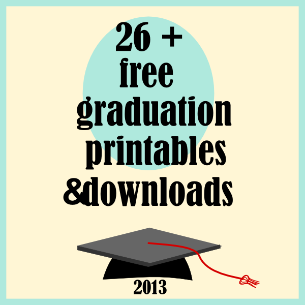 image regarding Free Graduation Printable referred to as ☞ ☞ absolutely free commencement 2013 printables and obtain one-way links