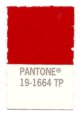 The Pantone Experiment True Red Color Of 2002