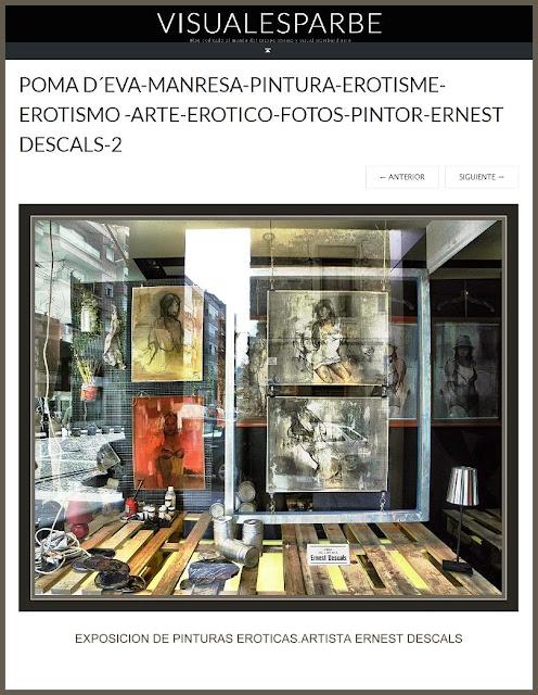 EXPOSICION-PINTURAS-EROTICAS-MANRESA-TIENDAS-PINTURA-FOTOS-ARTISTA-PINTOR-ERNEST DESCALS-VISUALESPARBE