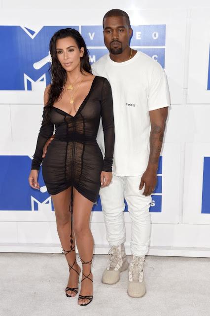 Kim Kardashian ve Kanye West MTV Video Müzik Ödülleri 2016