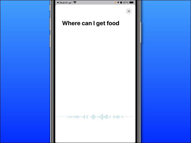 في ترجمة Apple على iPhone ، انطق الكلمات التي ترغب في ترجمتها.