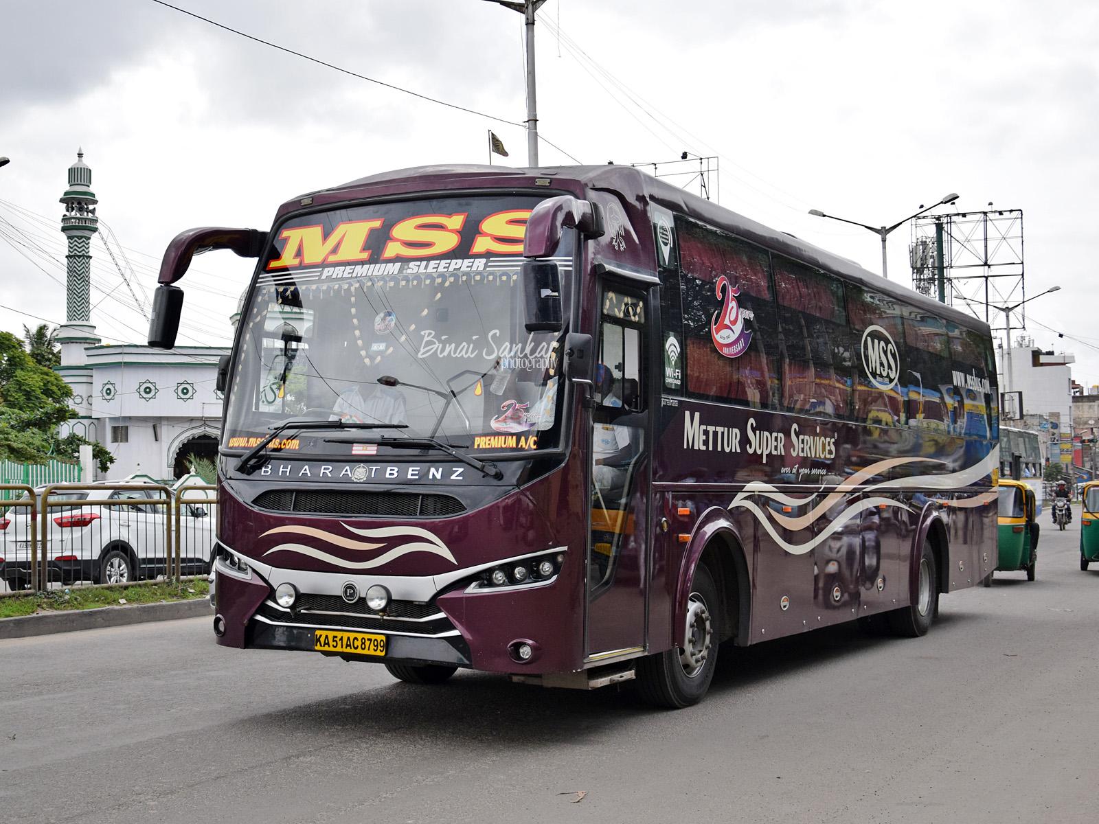 Bengaluru To Coimbatore Mss Bharat Benz Ac Sleeper
