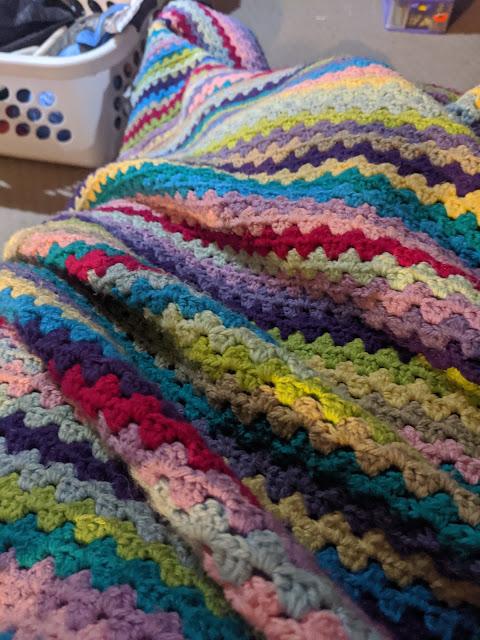 Comfy Granny Stripe Blanket