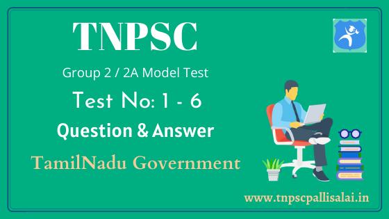 TNPSC group 2, 2A model test pdf