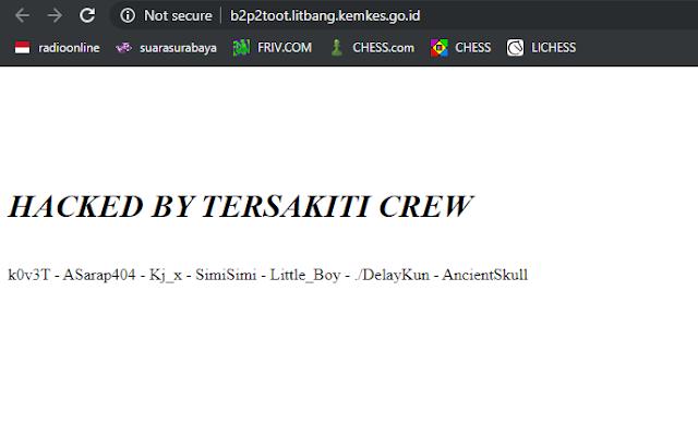 "Team Hacker ""Tersakiti Crew"" Retas Subdomain Kemetrian Kesehatan"