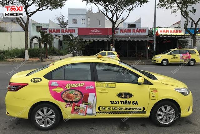 Dán quảng cáo trên Taxi Tiên Sa tại Đà Nẵng