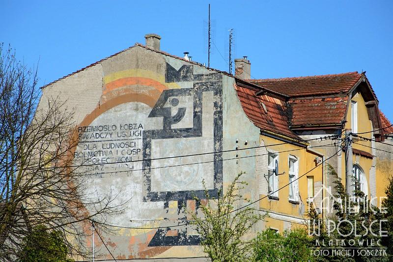 Łobez: mural