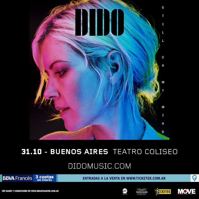 Dido llega por primera vez a la Argentina con un show en el Teatro Coliseo de Buenos Aires