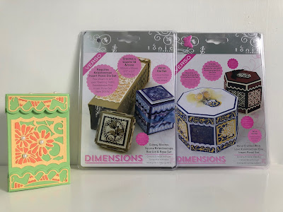 Small square Tonic Studios Kaleidoscope Box with die sets