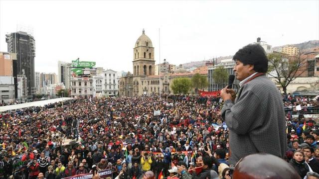 Morales: La oposición persigue un golpe de Estado en Bolivia