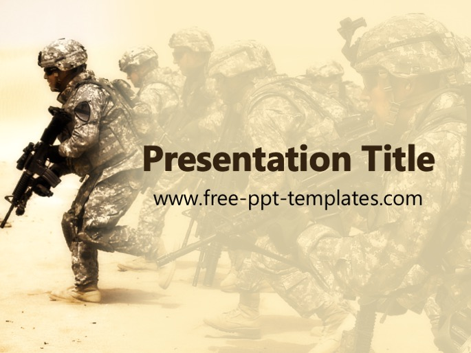 Military ppt template for Marine corps powerpoint template