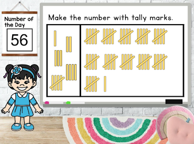 Tally marks help with skip counting