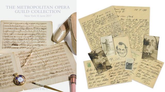 Christie's subasta noventa lotes de partituras y objetos de cantantes y compositores