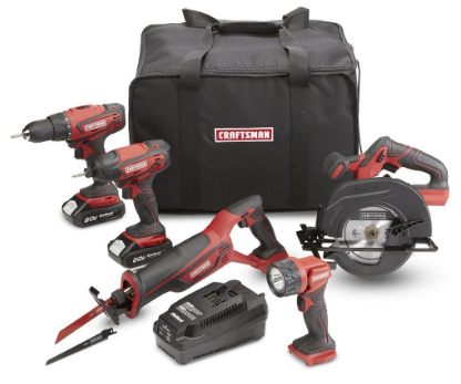 SEARS - Craftsman 20V Max 5 pc Combo Kit $209.99