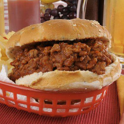 Barbecued Turkey Sloppy Joes Recipe