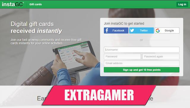 instagc, الحصول على بطاقات جوجل بلاي مجانا