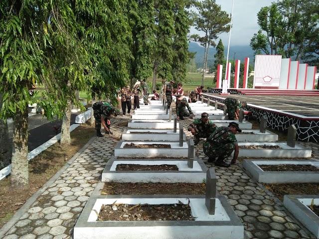 Sambut HUT TNI Ke 72, Kodim 0615/Kuningan Laksanakan Kegiatan Karya Bakti