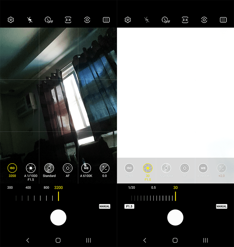 One UI 2.0's new camera app in Pro Mode