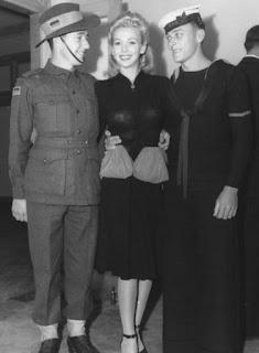 Carole Landis Meeting Soldiers