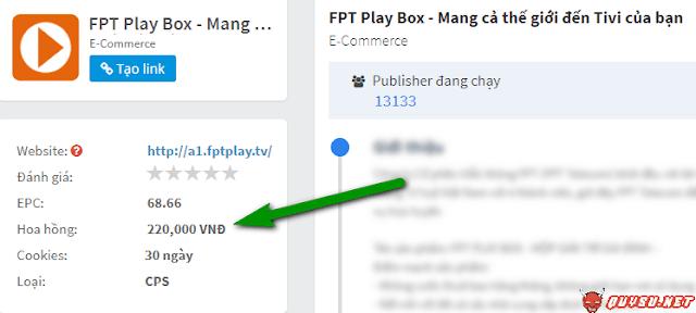 kiếm tiền FPT Playbox