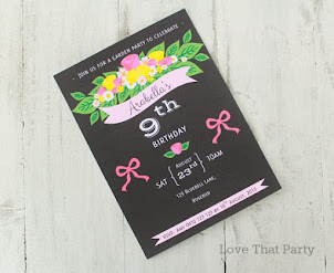 Florals & Banners Boho Invitation