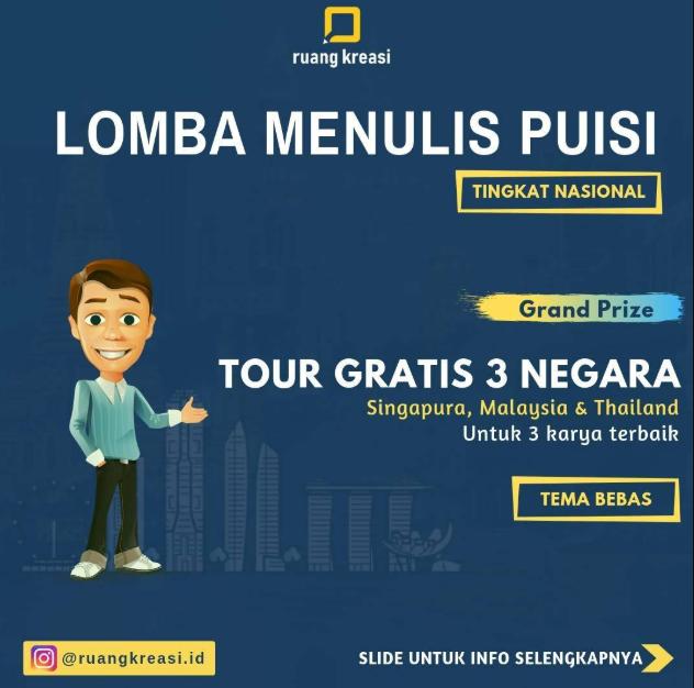 Lomba Menulis Puisi Nasional 2019 Bersama @Ruangkreasi.id