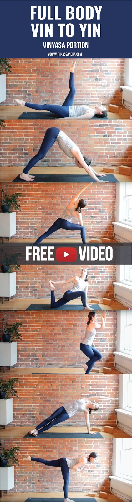 Get both yin and yang, in this well balanced practice! One part is a strong Vinyasa flow, the other is a passive practice of Yin.