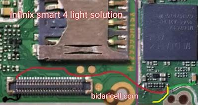Infinix smart 4 light solution layar gelap