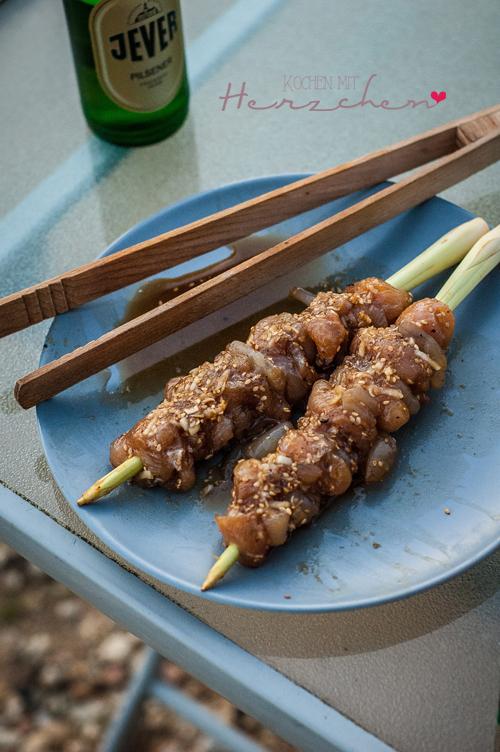 Vietnamesische Grillspieße