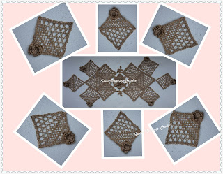 crochet doily set, crochet Irish lace doily set, Crochet Irish lace