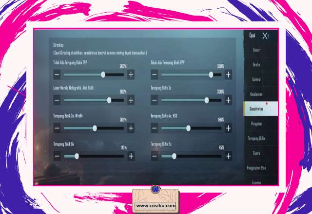 Sensitivitas PUBG Mobile 100% No Recoil Untuk HP REALME