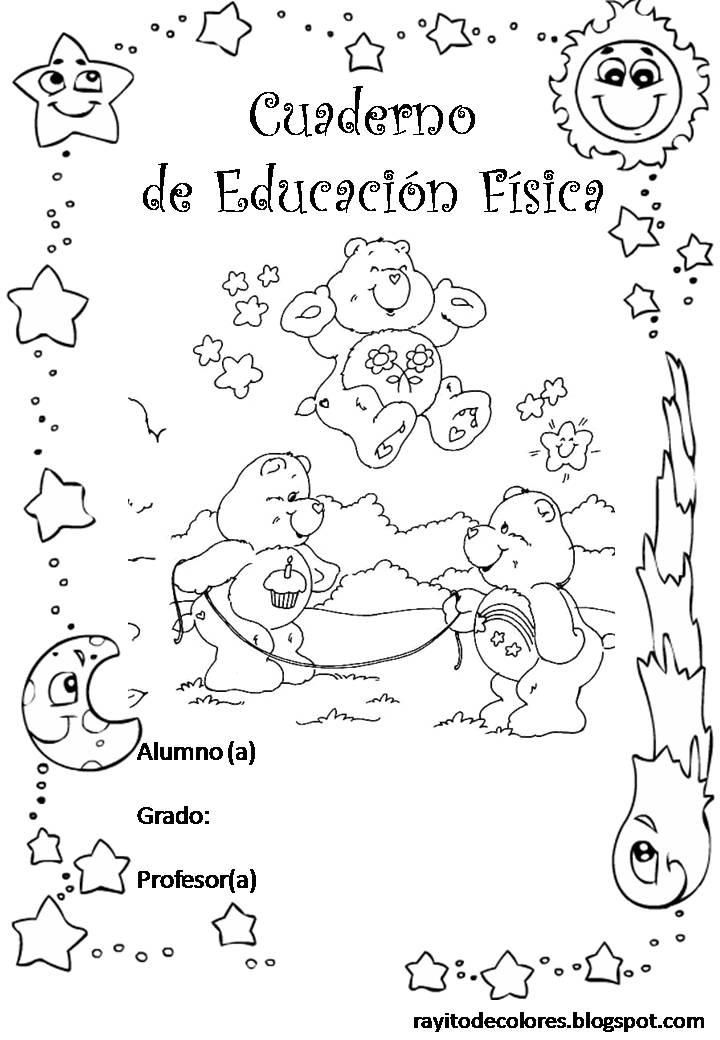 Carátula para cuaderno de Educación Fìsica