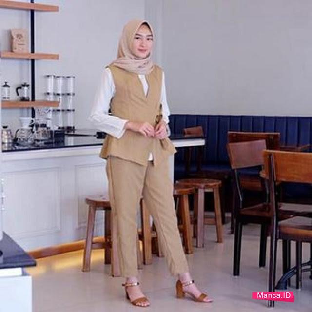 setelan hijab rompi